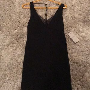 NWT black trafaluc dress with lace bralette